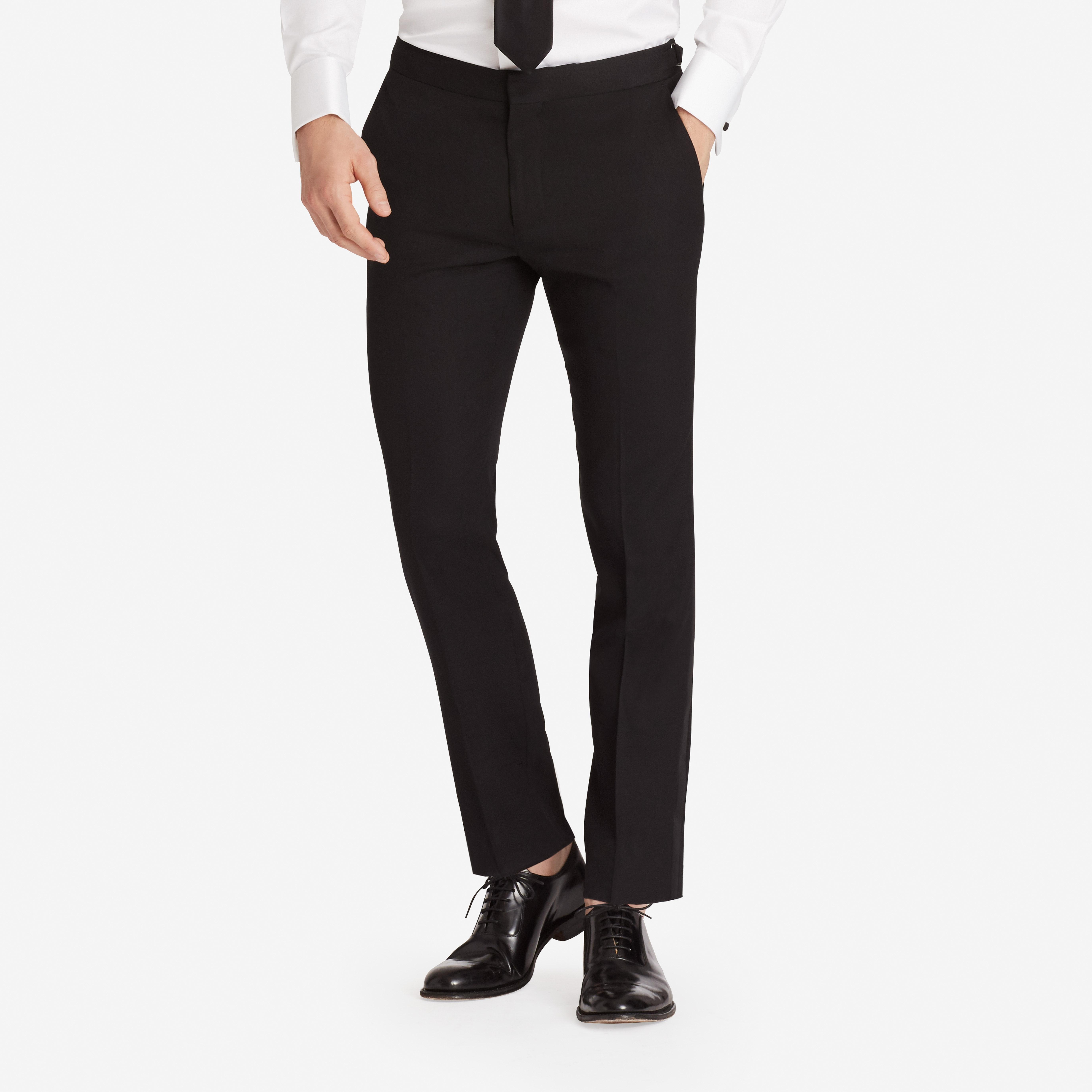 Lightweight Wool Tuxedo Pant