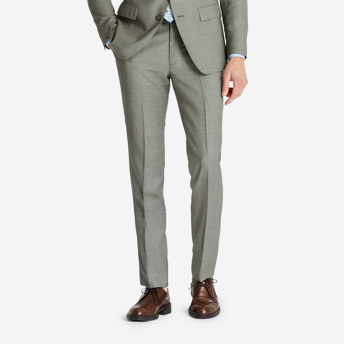 Lightweight Italian Wool Suiting Pant