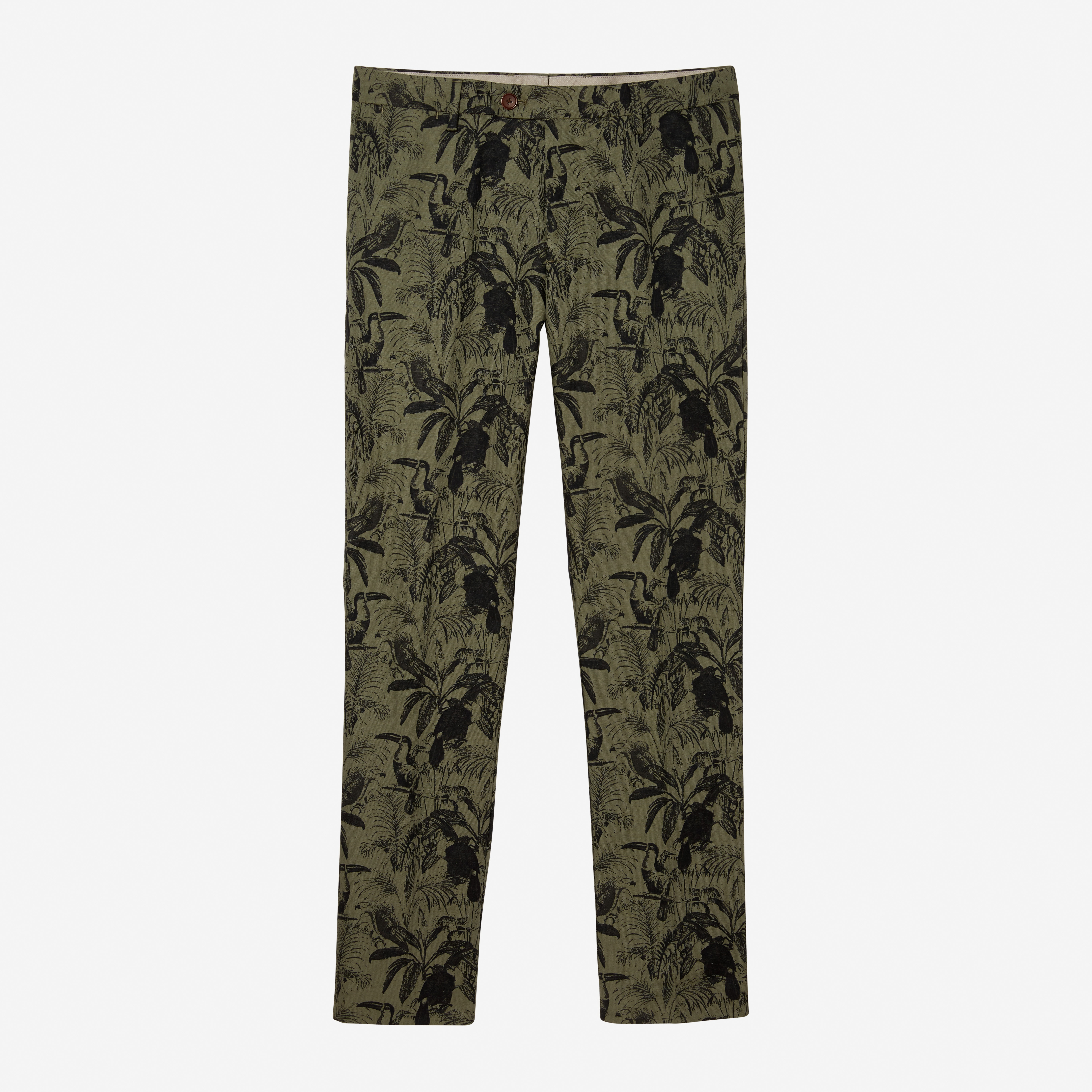 Novelty Cotton Blend Trousers