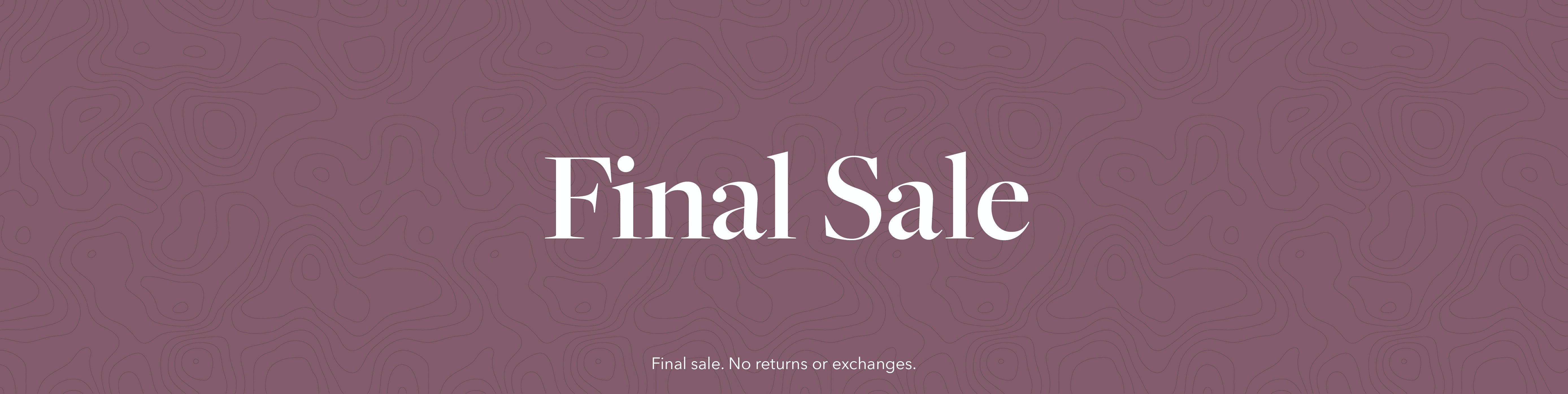 All Final Sale Hero Image