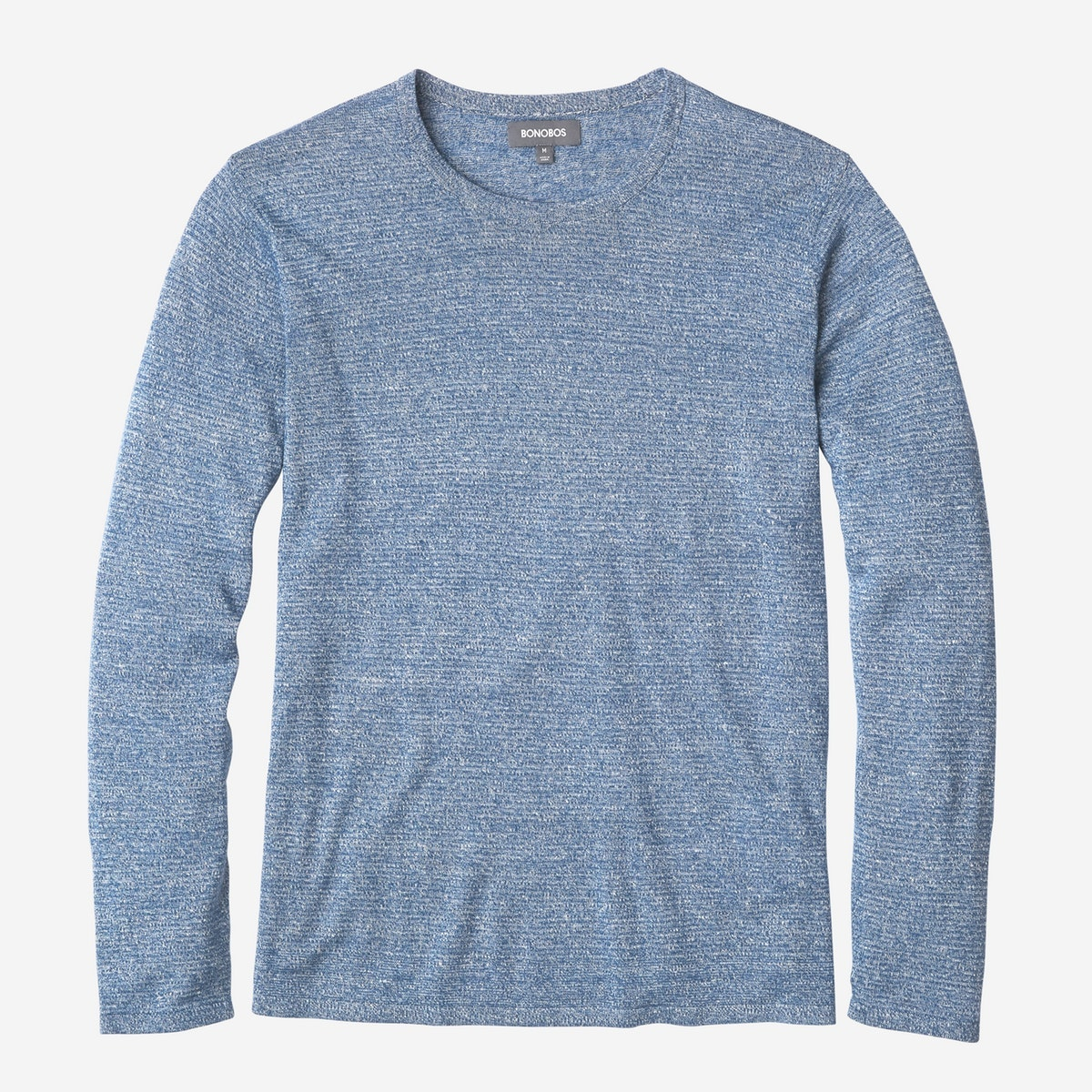 Cashmere Linen Long Sleeve Sweater Tee
