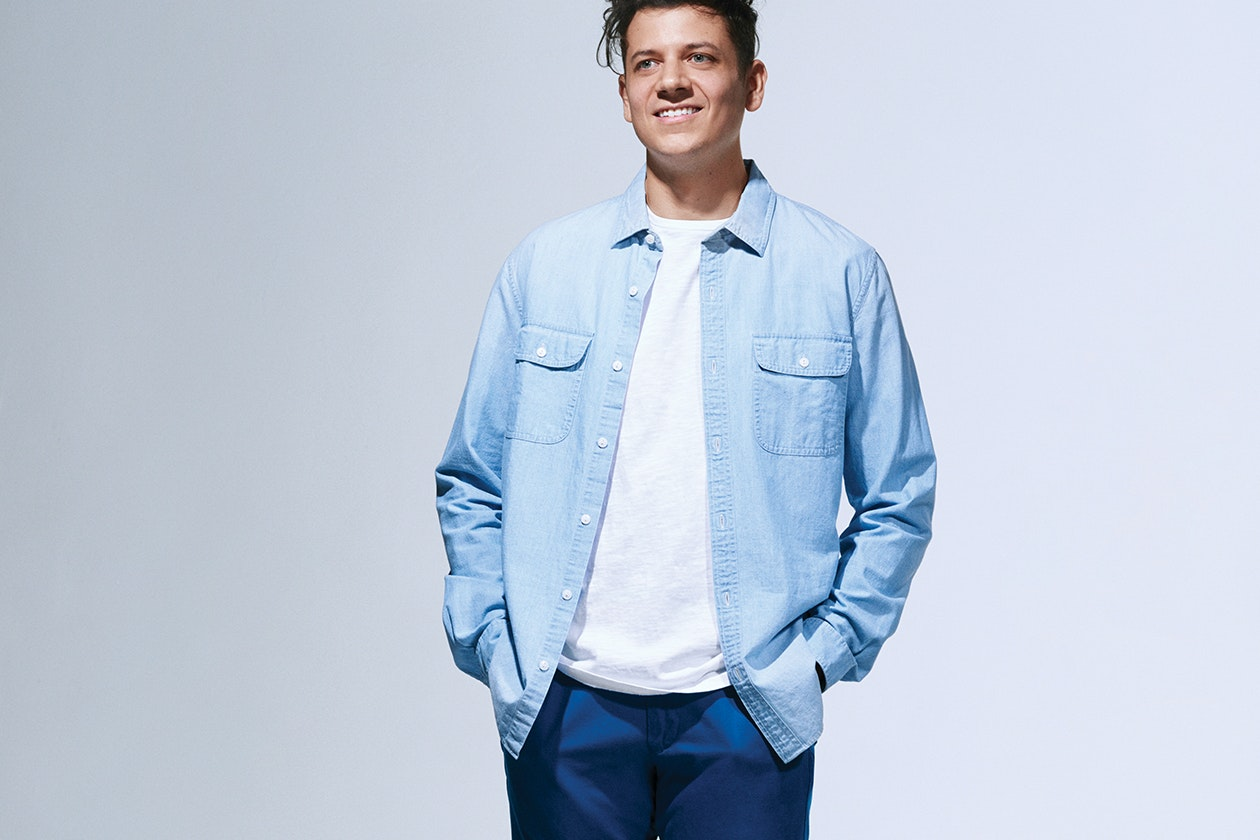 Editorial photo for Chambray & Denim Shirts category