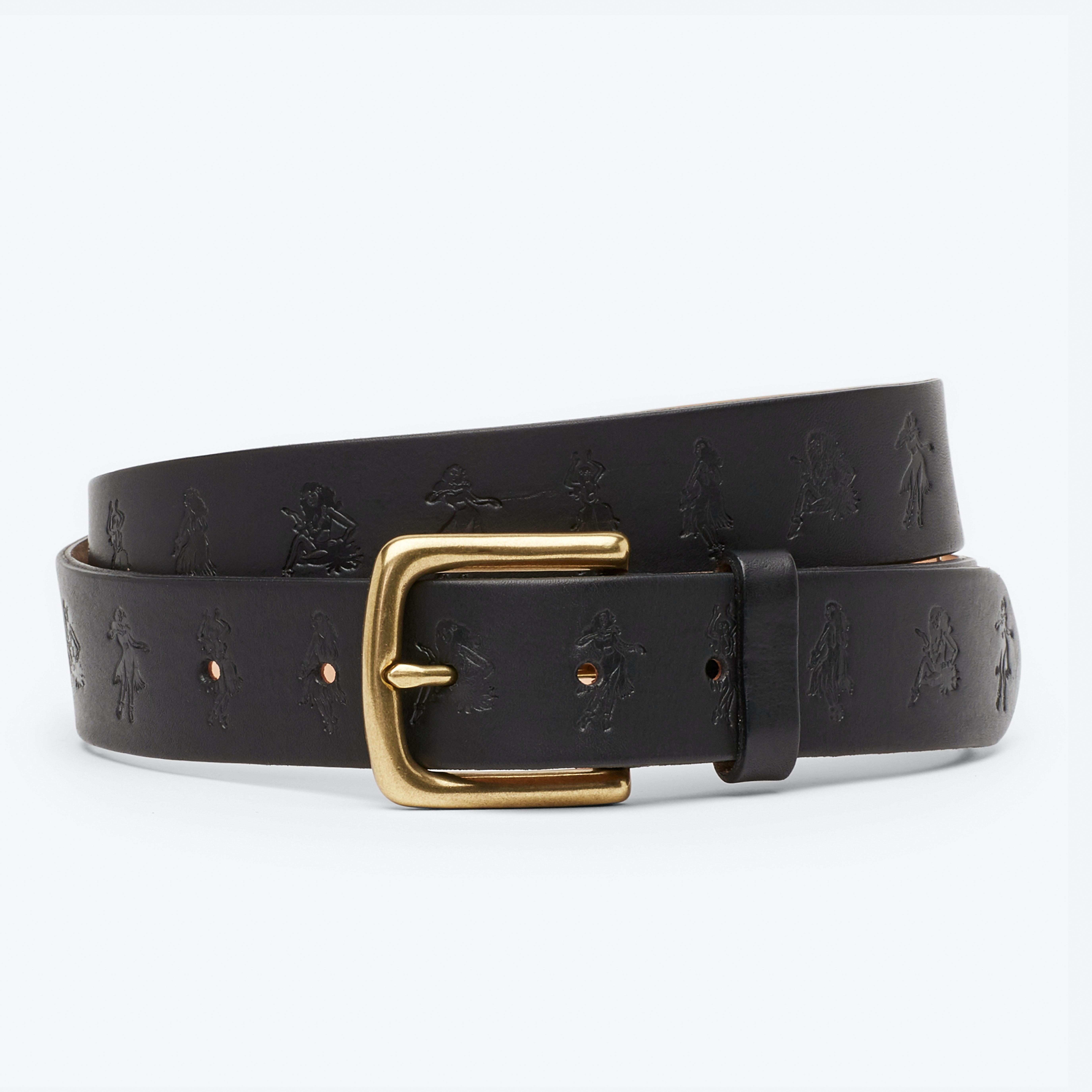 Embossed Hula Jeans Belt
