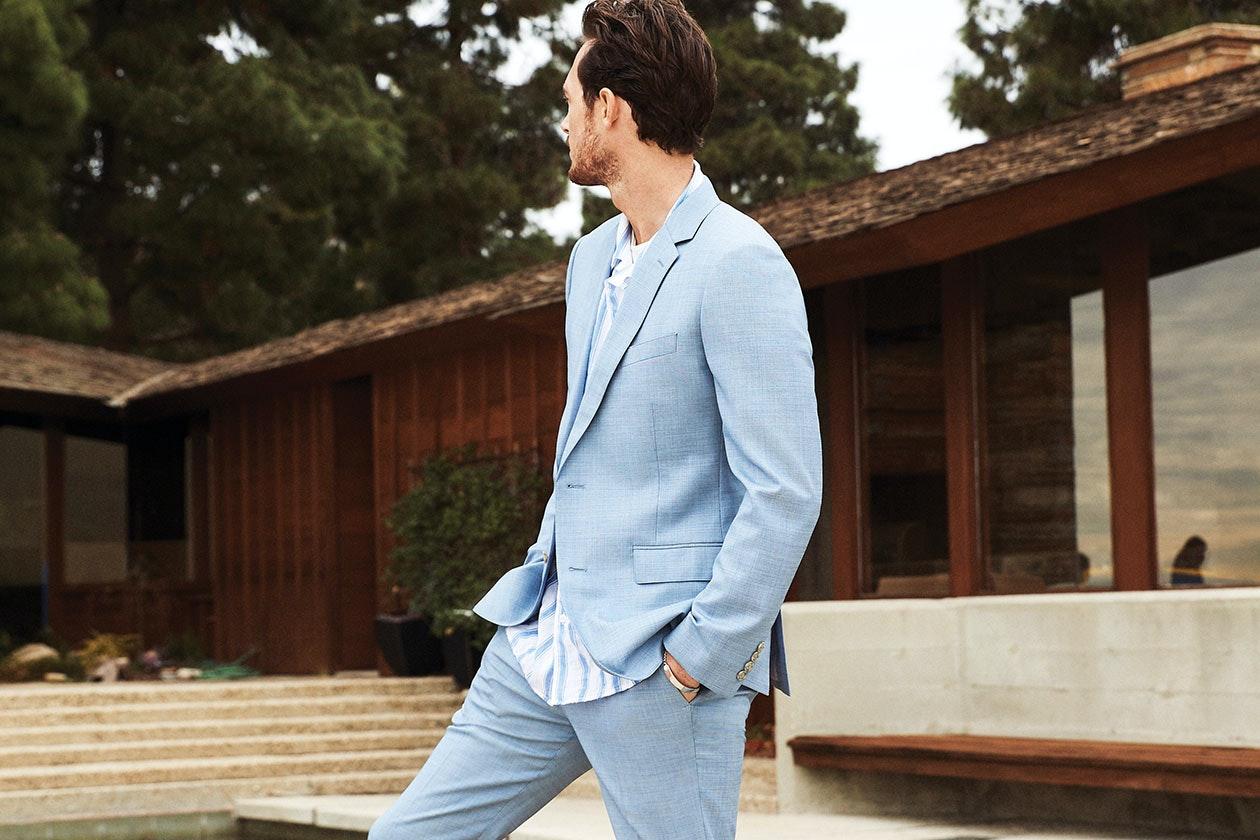 Jetsetter Stretch Italian Wool Suit Hero Image