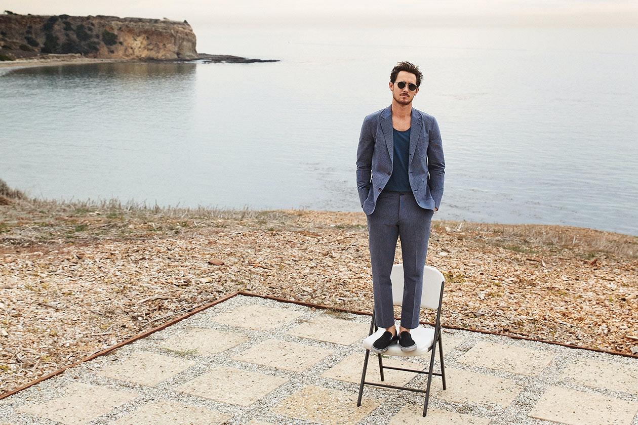 Lightweight Italian Cotton Suit Hero Image