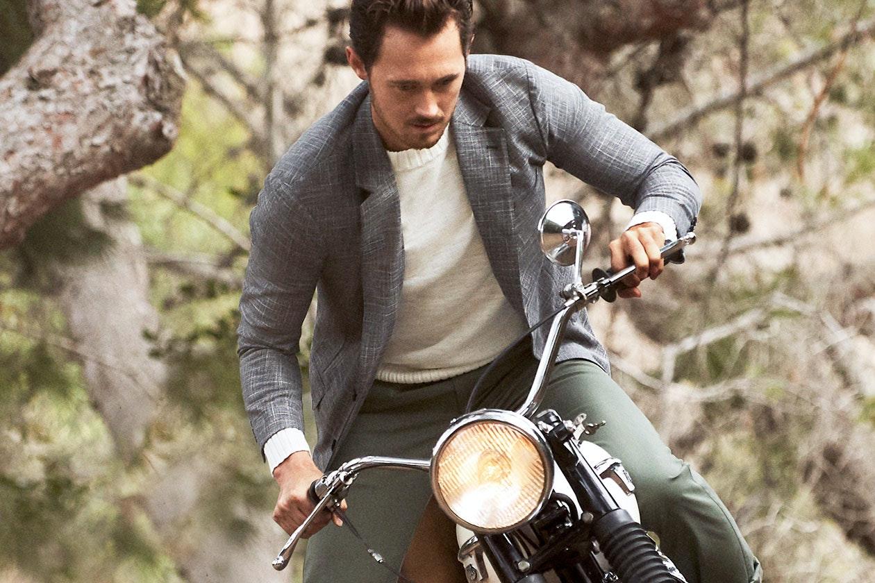 Unconstructed Italian Wool Blazers Hero Image