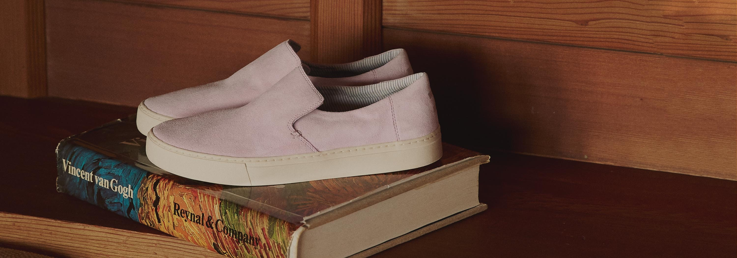 Take a walk in our brand new shoes, made in collaboration with TOMS.
