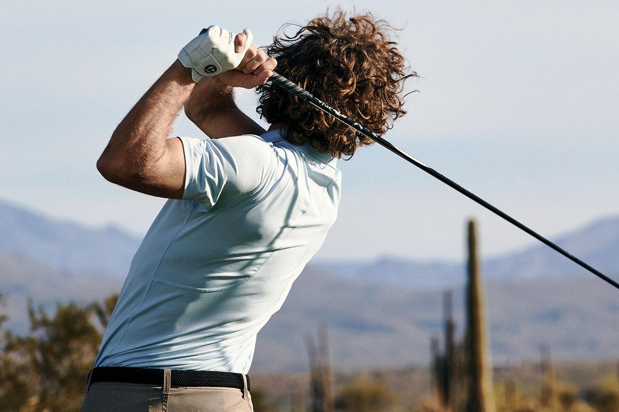 Editorial photo for M-Flex Flatiron Golf Polo category