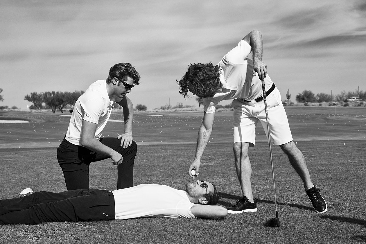Editorial photo for M-Flex Flatiron Golf Polo category