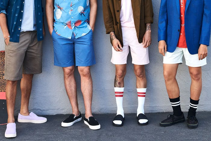 Editorial photo for Stretch Washed Chino Shorts category