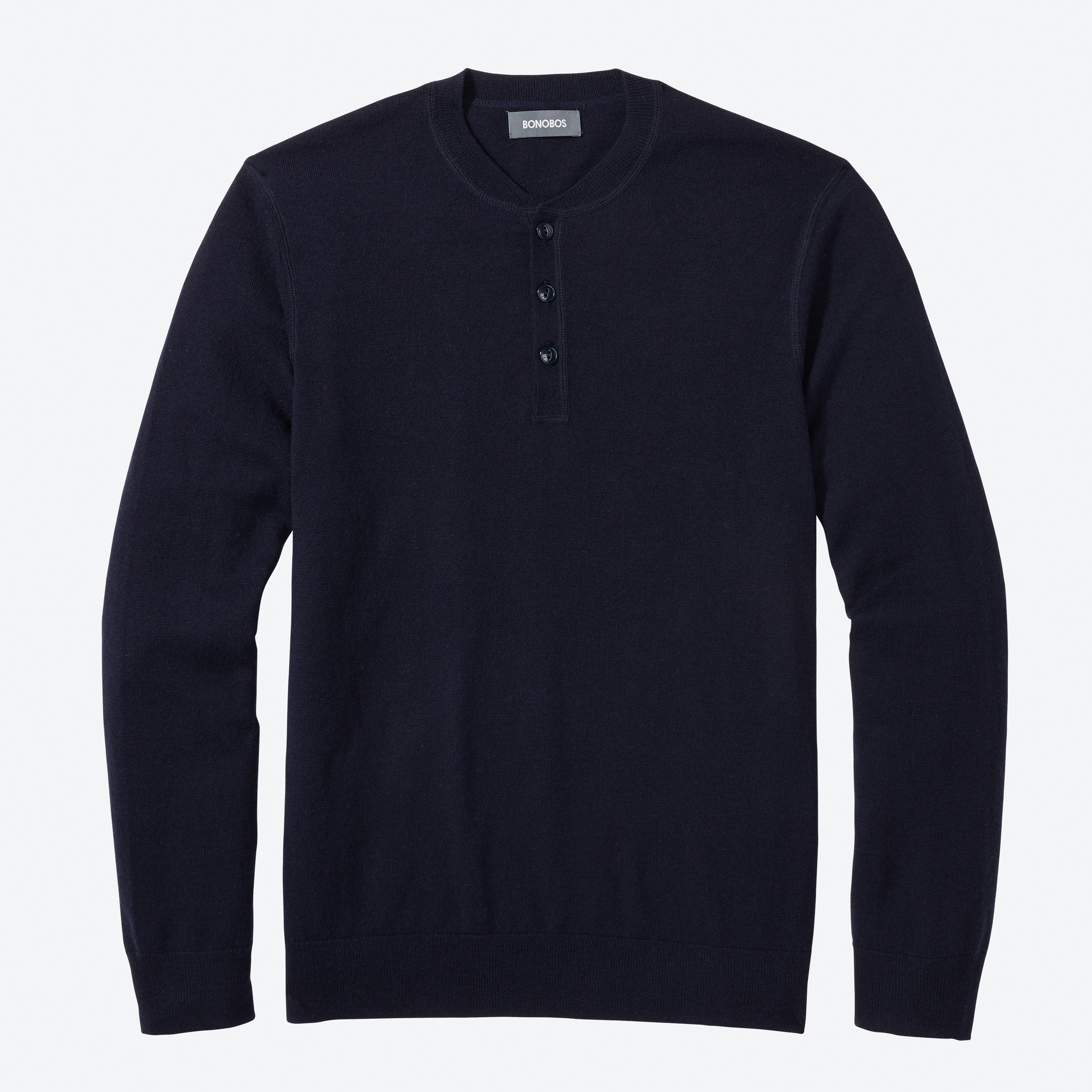 Merino Cotton Henley Sweater