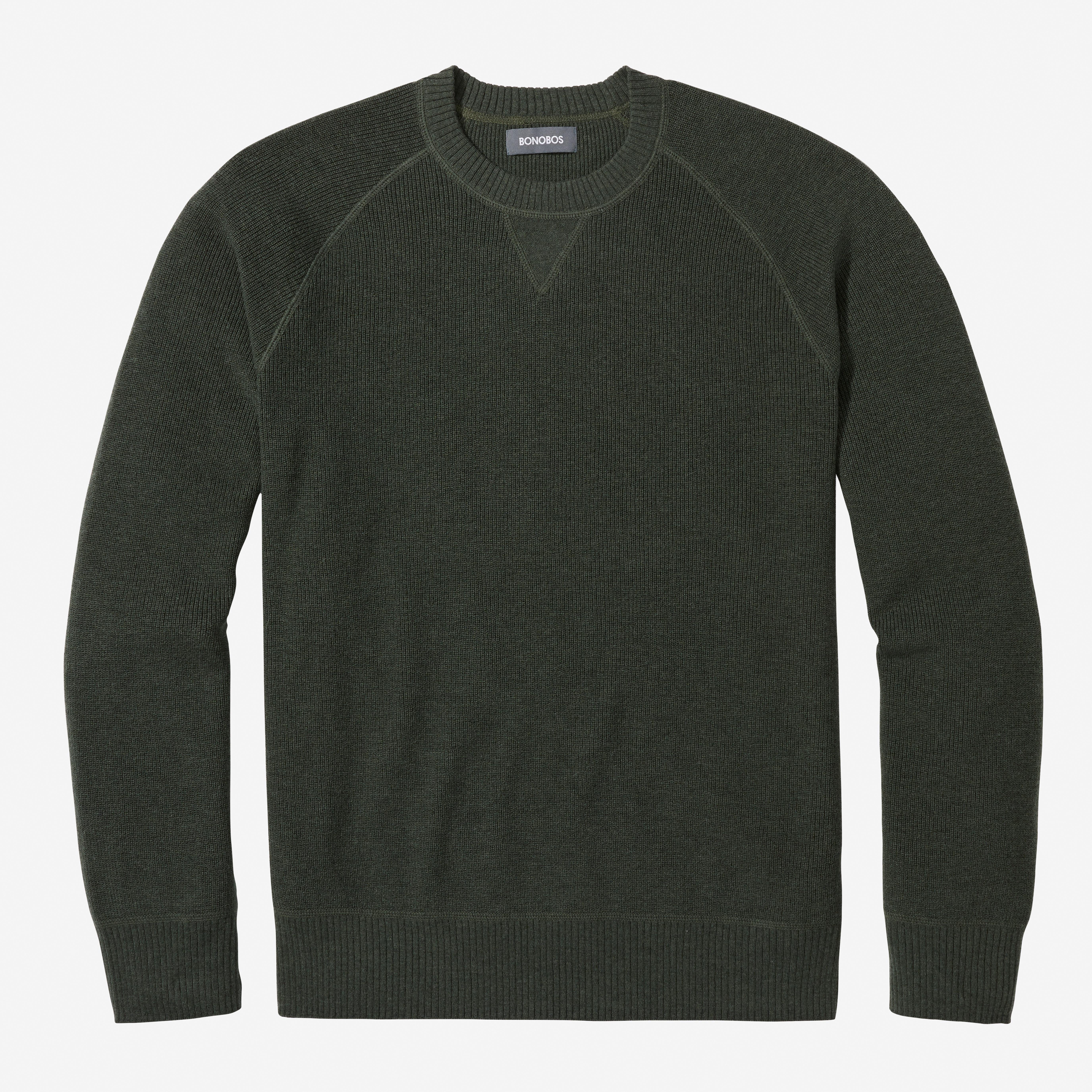 Merino Cotton Crew Neck Sweater