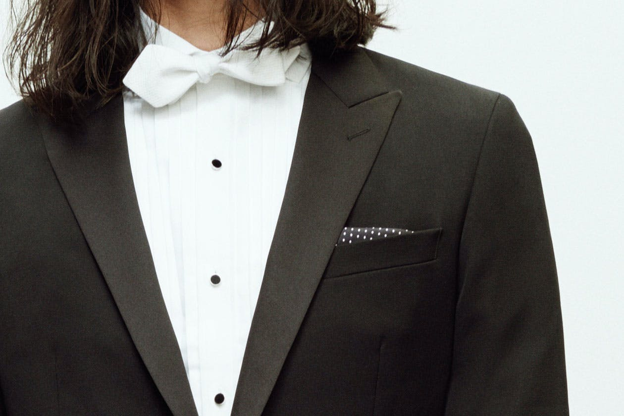 Header showing products for the Pocket Squares category