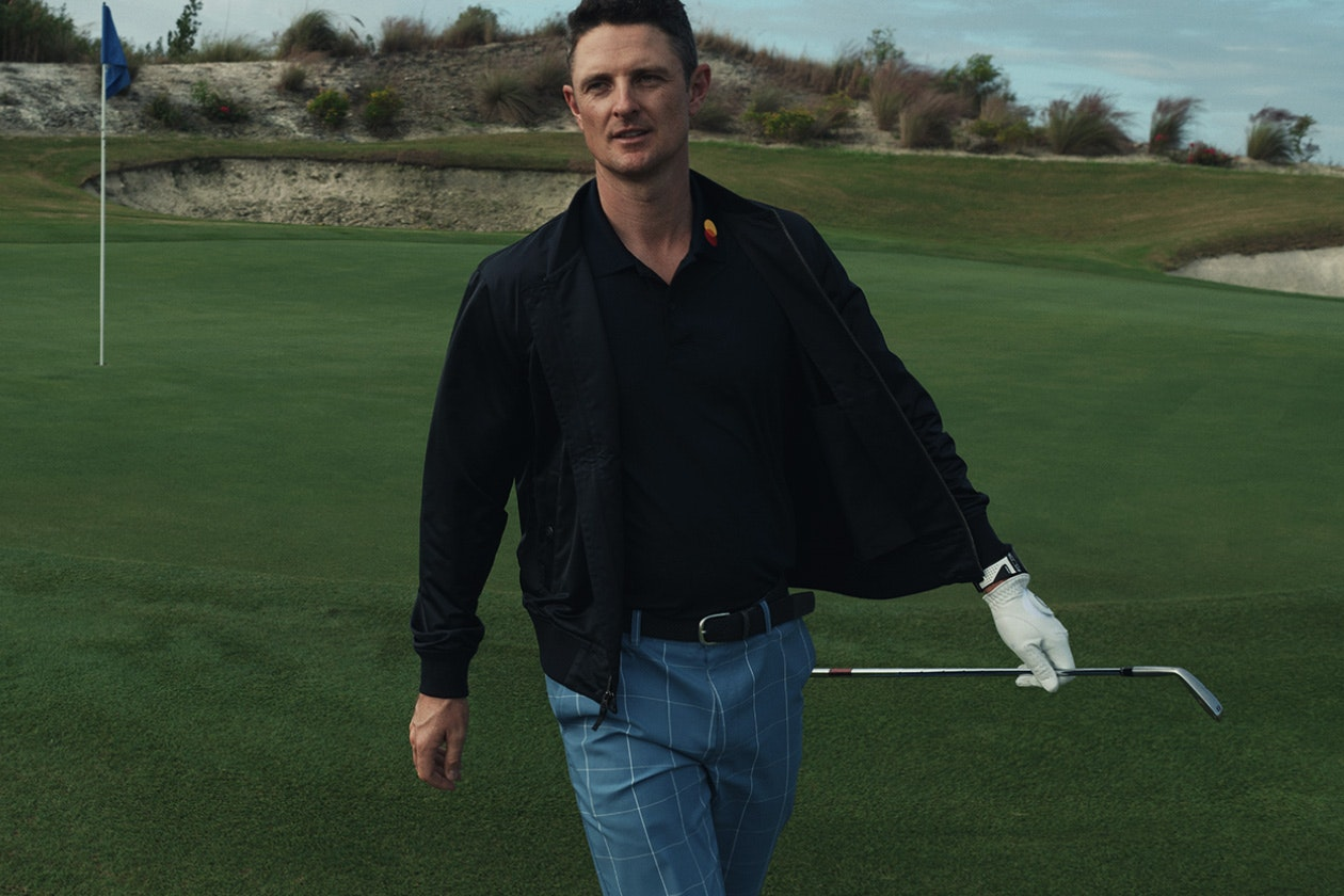 Header showing products for the Highland Golf Pants category