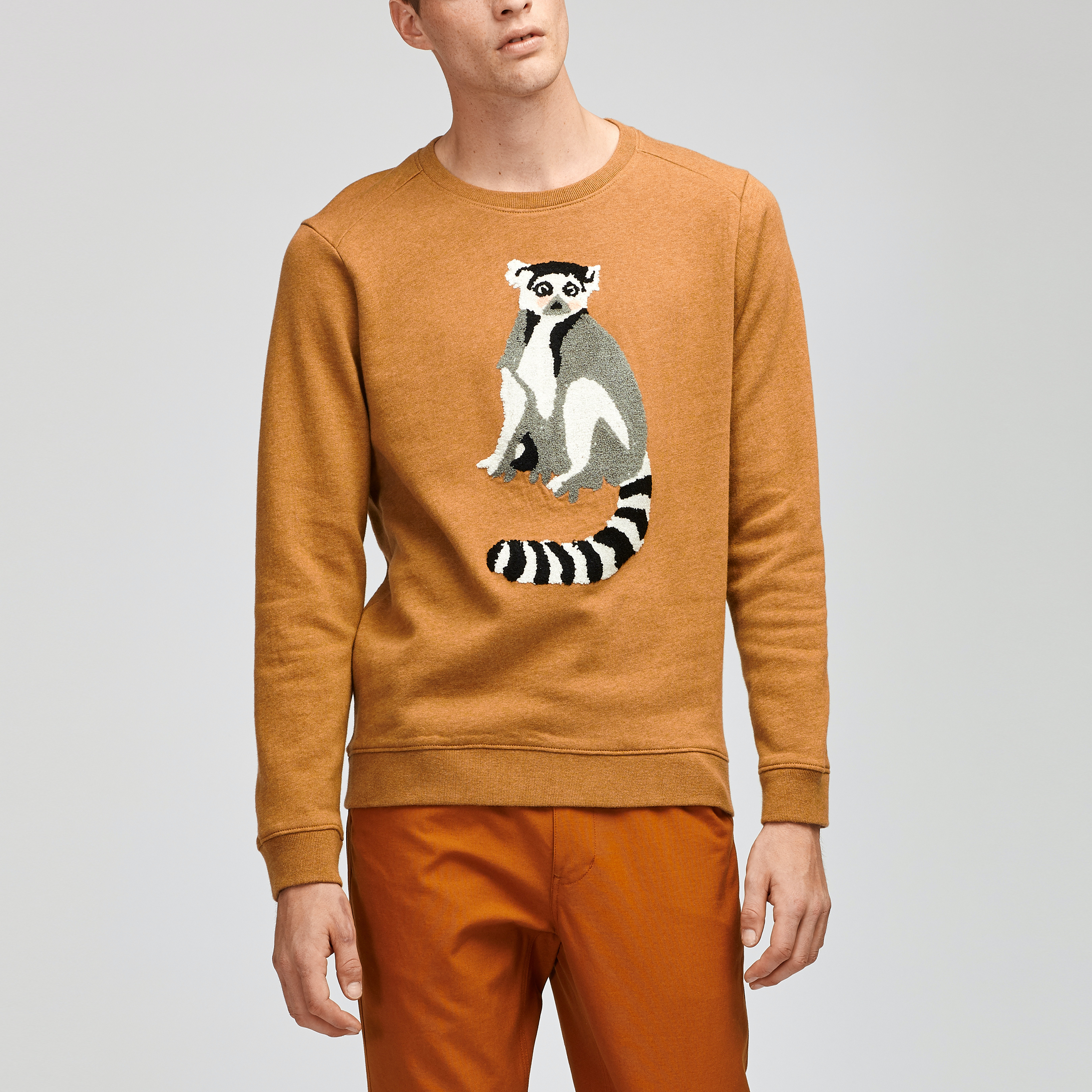 Lemur Fleece Crew Neck