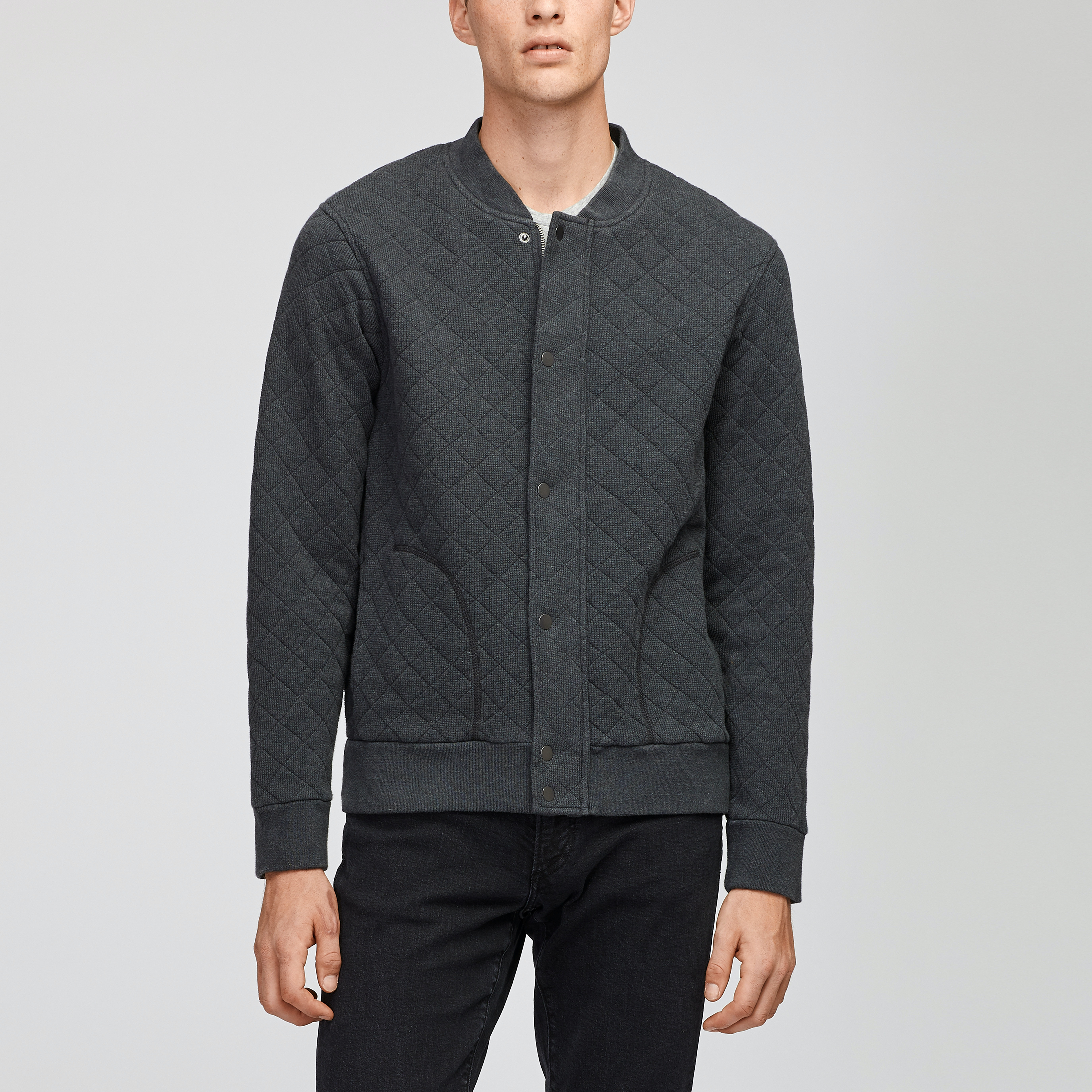 The Quilted Waffle Bomber Jacket
