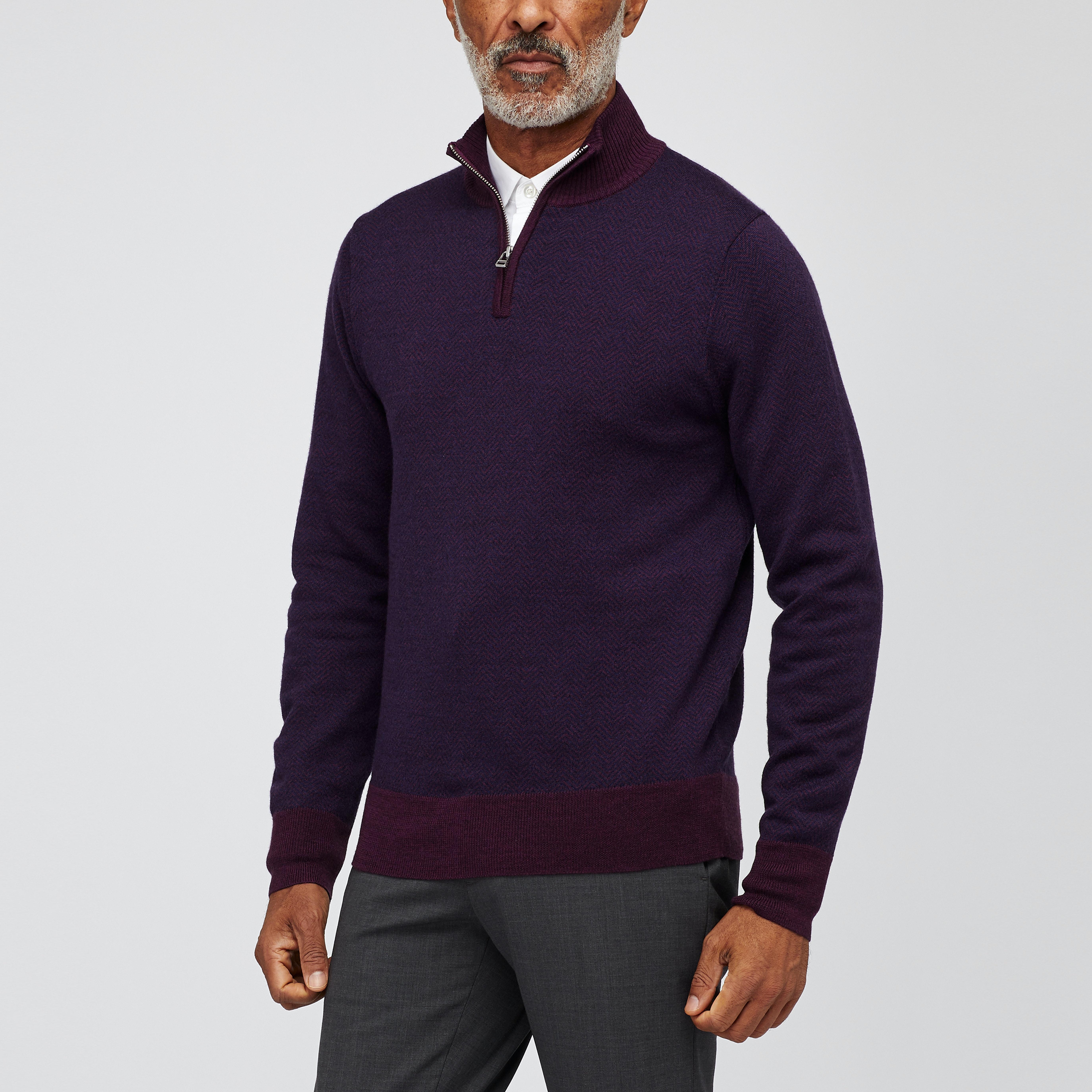 Washable Merino Half-Zip Sweater