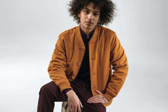 Editorial photo for The Wool Quilted Bomber Jacket category