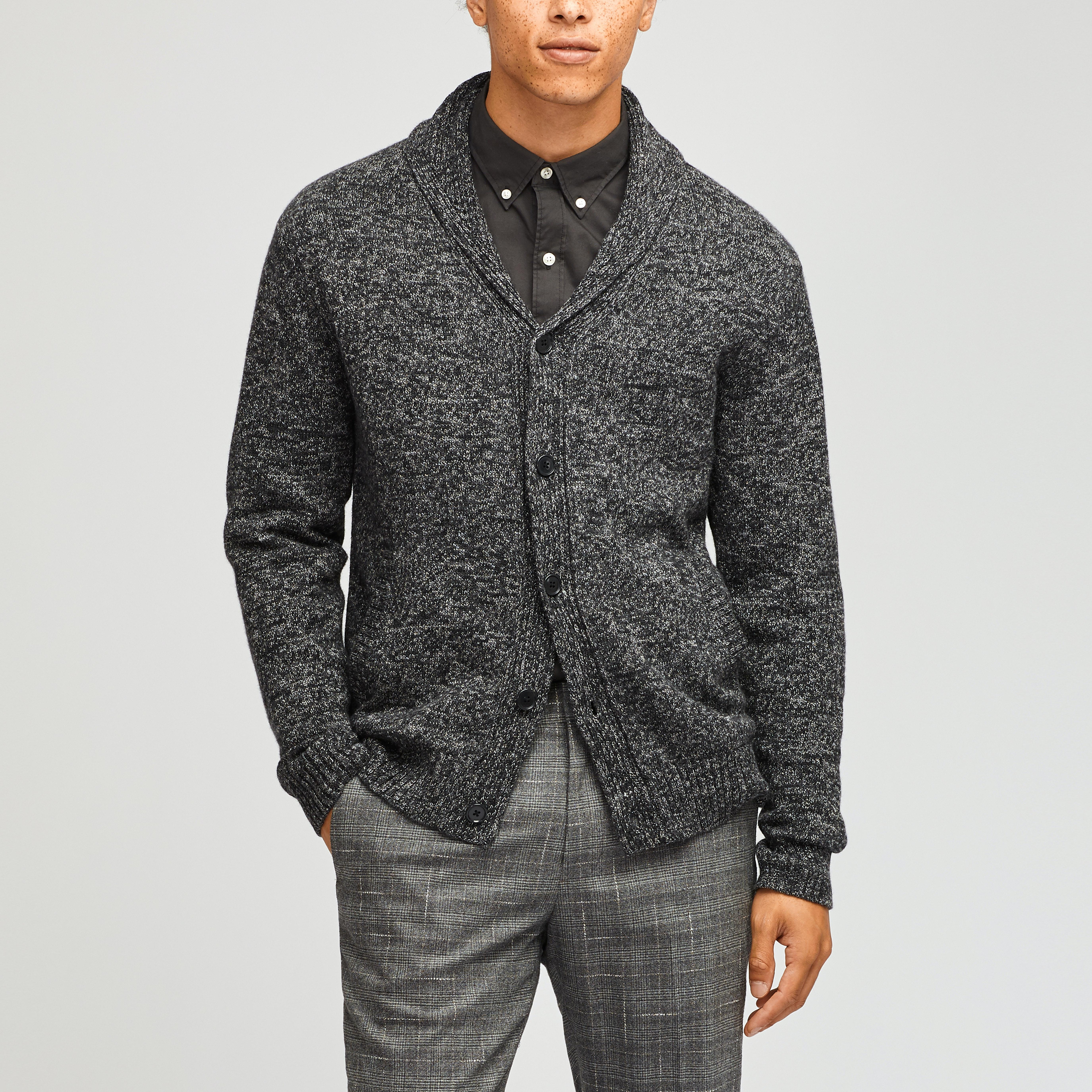 Cotton Cashmere Shawl Cardigan