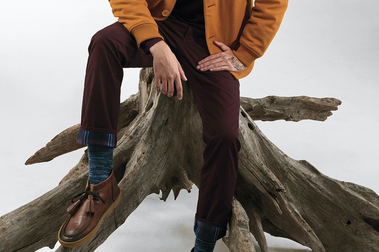 Editorial photo for Flannel Lined 5-Pocket Pants category
