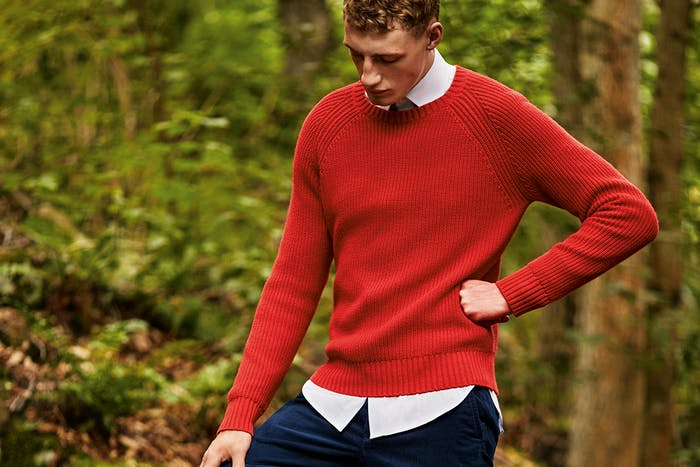 Editorial photo for Cotton Cashmere Raglan Sweater category