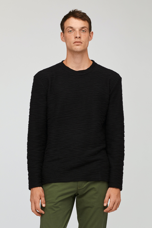 Textured Crew Neck Sweatshirt