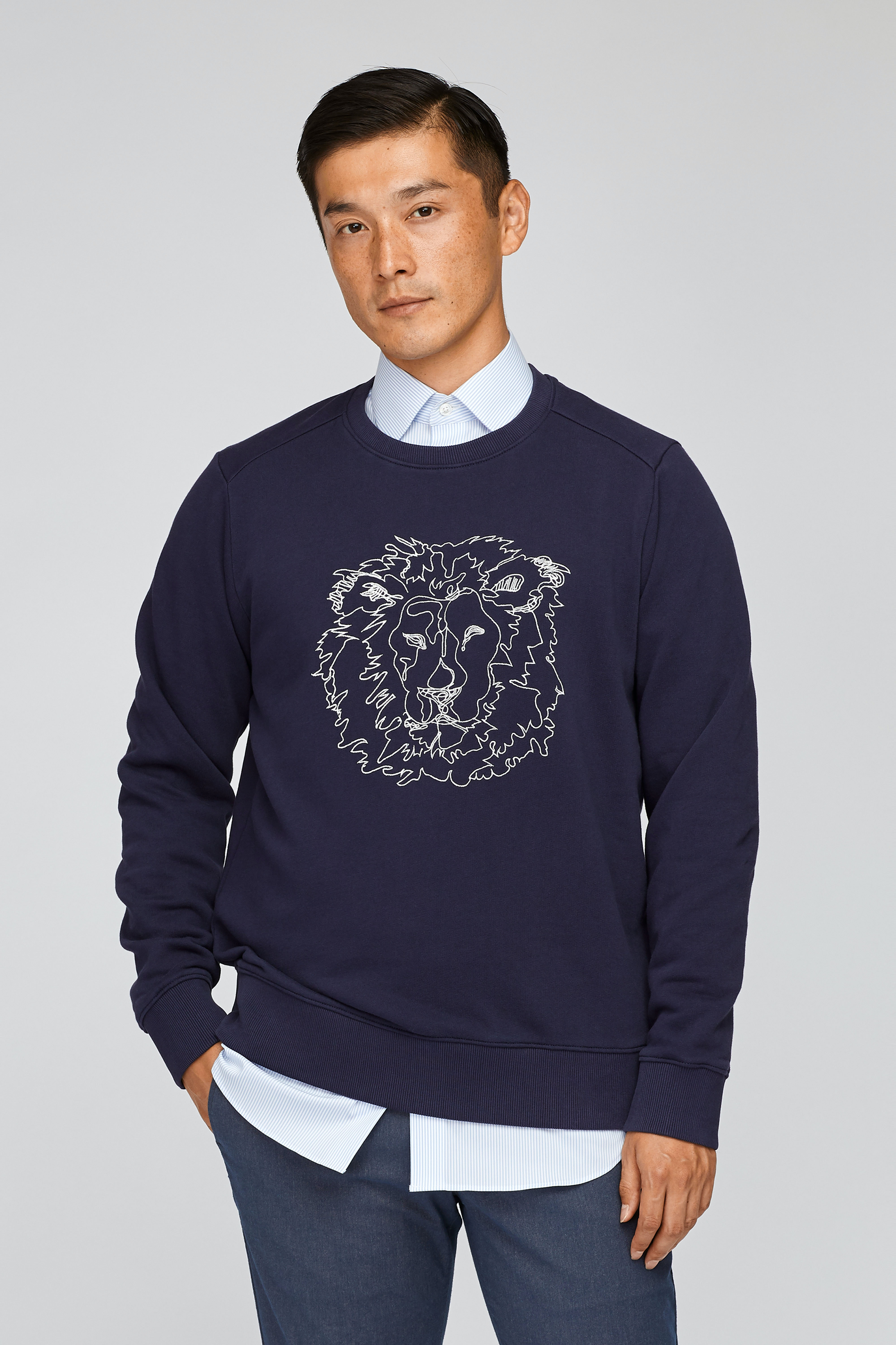 Lion Fleece Crew Neck