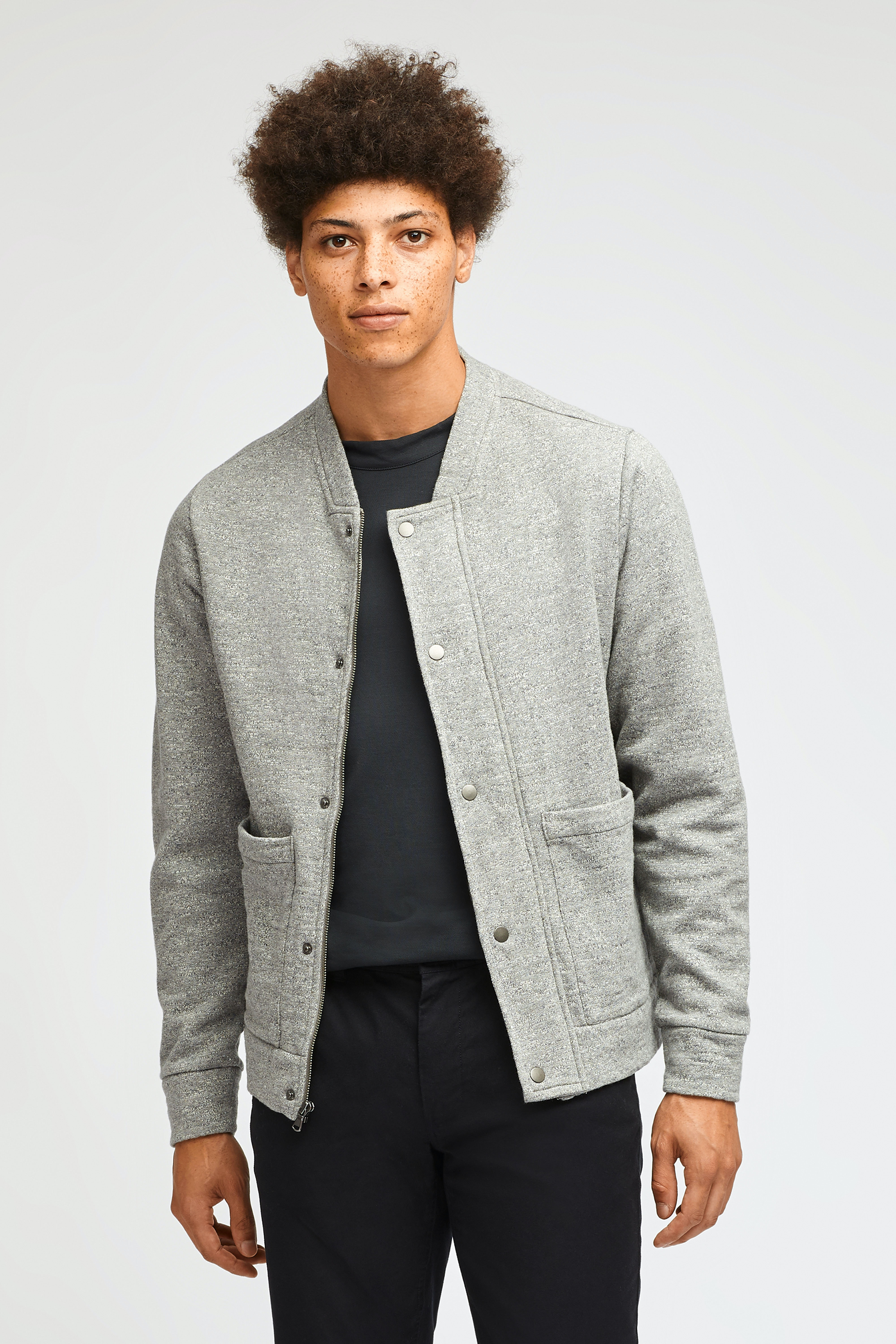 Fleece Baseball Bomber Jacket