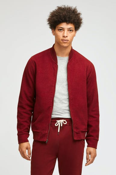 Reverse Fleece Bomber Jacket