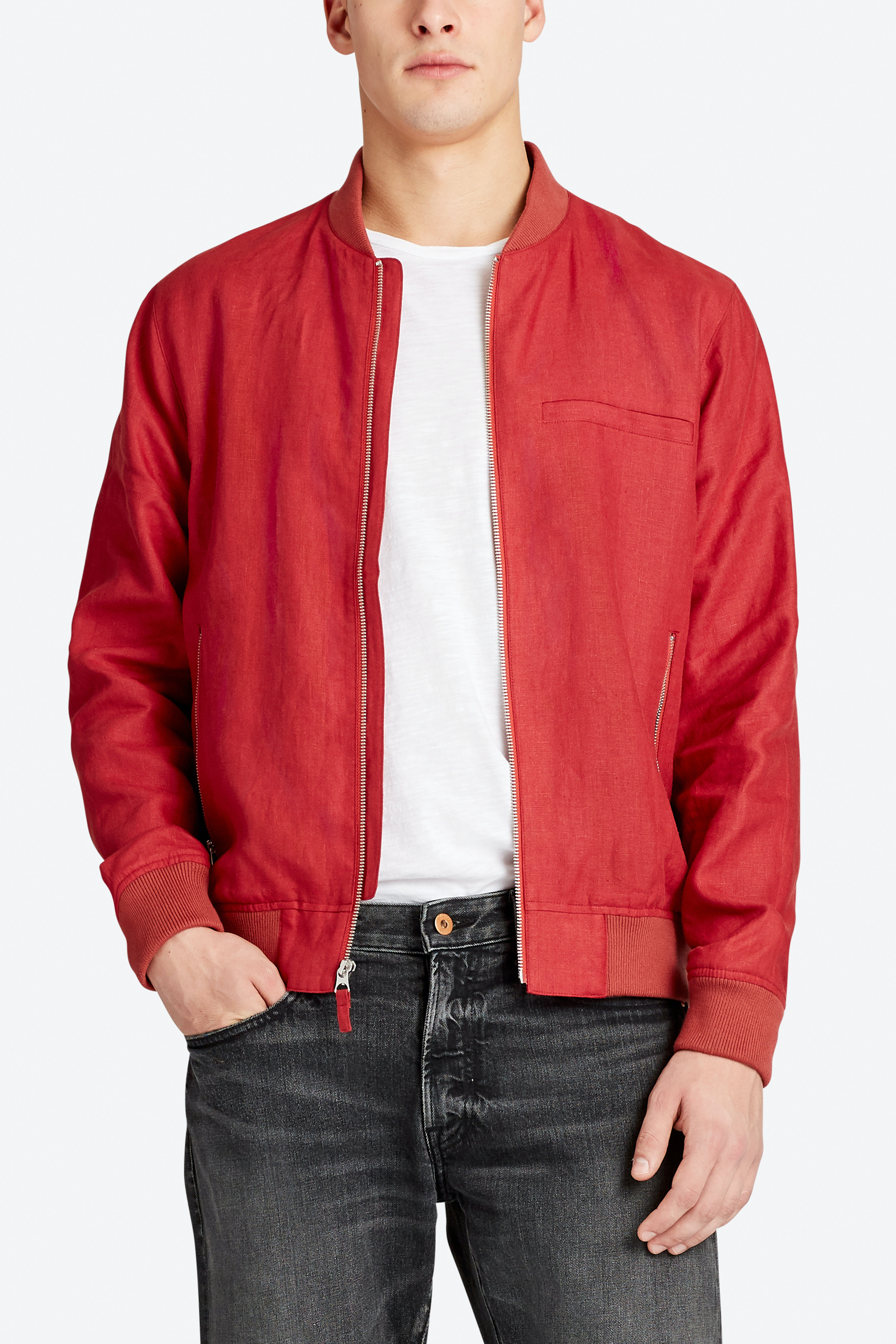 The Linen Bomber Jacket